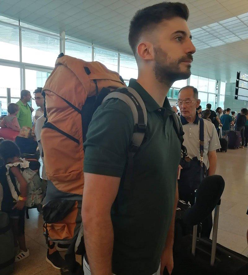 mochila de viaje de trekking o acampada