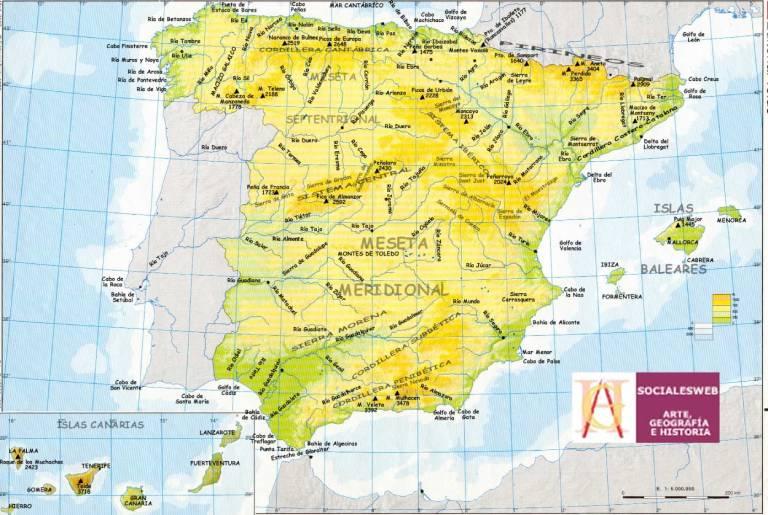 mapa cabos y golfos de España