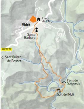 mapa ruta salt del molí