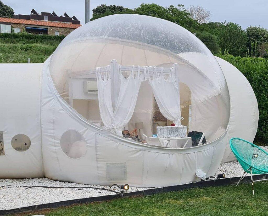 hotel para ver estrellas burbuja