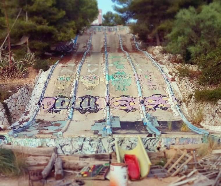 parque acuatico abandonado barcelona