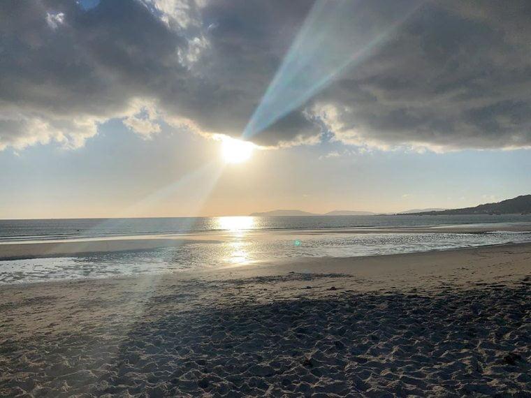 puesta de sol playa de carnota