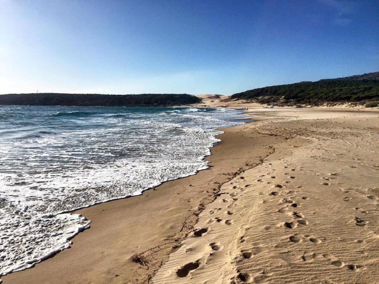 playa de bolonia en el municipio de tarifa
